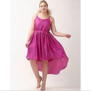 Lane Bryant Hot Pink High Low Party Dress